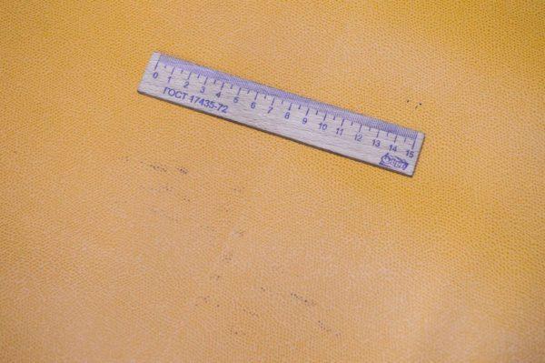 Кожа КРС, сафьяно (Saffiano), тёмно-жёлтая, 138 дм2, Be Antiba S.R.L.-901016