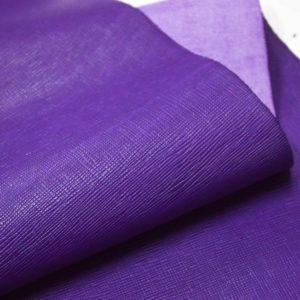 Кожа КРС, сафьяно (Saffiano), фиолетовая, 172 дм2.-901034