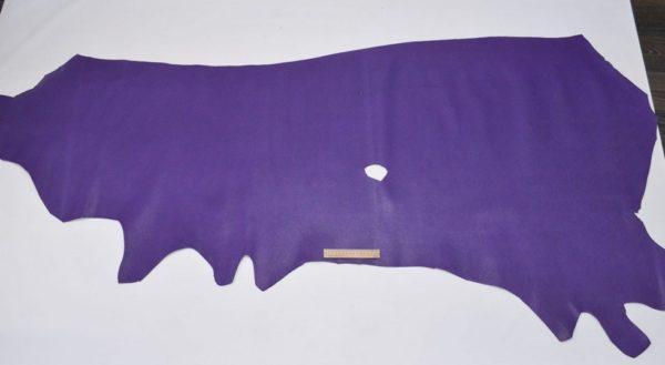 Кожа КРС, сафьяно (Saffiano), фиолетовая, 145 дм2.-901035