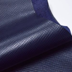 Кожа КРС, сафьяно (Saffiano), тёмно-синяя, 86 дм2, Masoni Industria Conciaria S.p.А.-901039