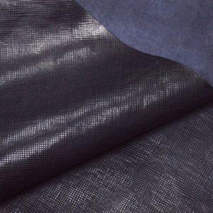 Кожа КРС, сафьяно (Saffiano), чёрная, 134 дм2.-901059