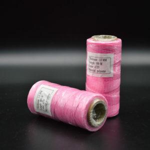 Нить мокасин вощенная, розовая