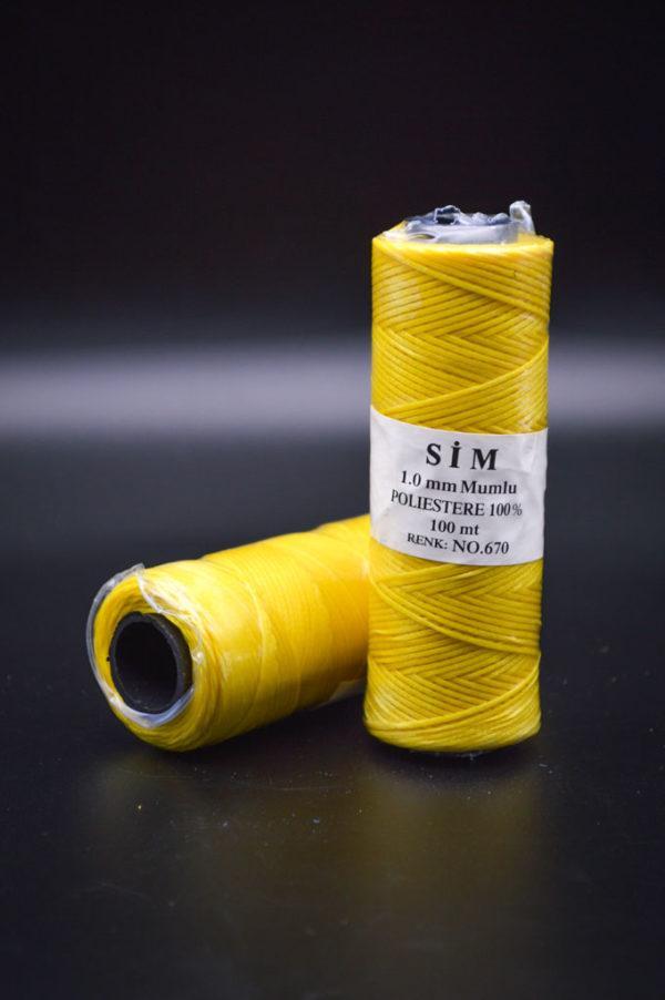 Нить вощенная. Жёлтая (SIM 670)