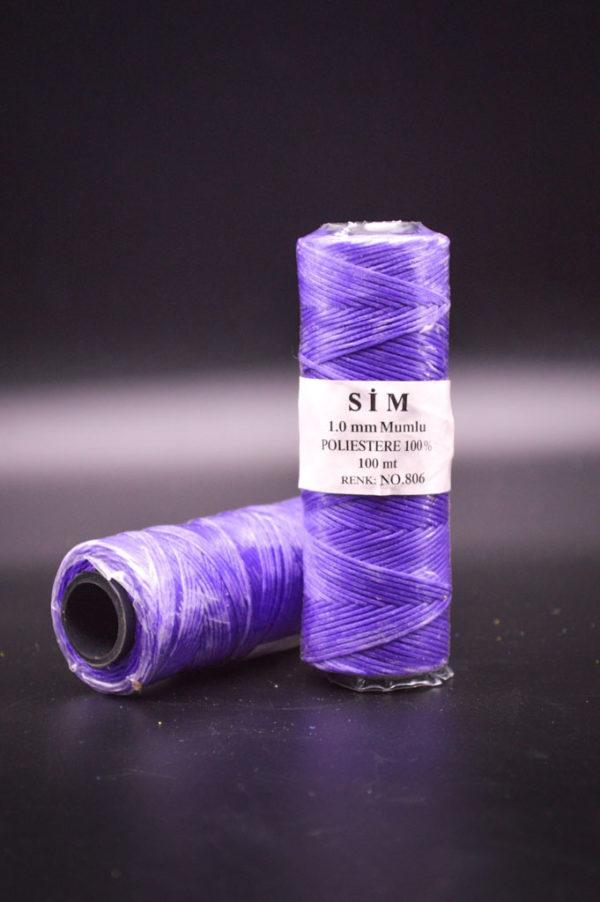 Нить вощенная. Фиолетовая (SIM 806)
