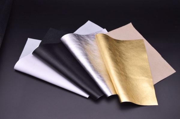 Набор из 4 кусочков белой, черной, серебро, золото, А4-Набор 1-4
