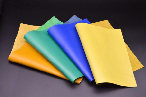 Набор из 4 кусочков зелёной (изумрудной), синей, оранжевой, жёлтой (лимонной), А4-Набор 1-1