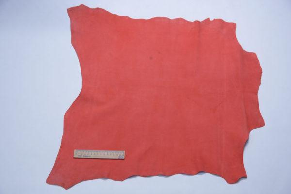 Велюр МРС, коралловый, 39 дм2, Conceria Stefania S.p.A.-107384