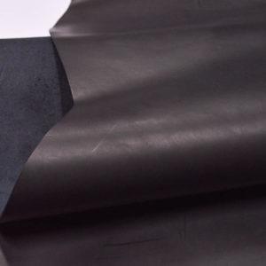 Кожа КРС растительного дубления, чёрная, 161 дм2.-501150