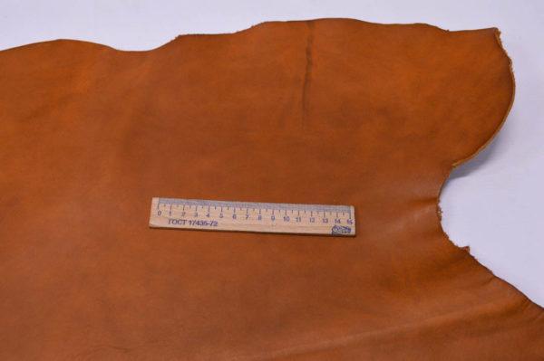 Кожа КРС (пола) растительного дубления, рыжая, 110 дм2.-501155