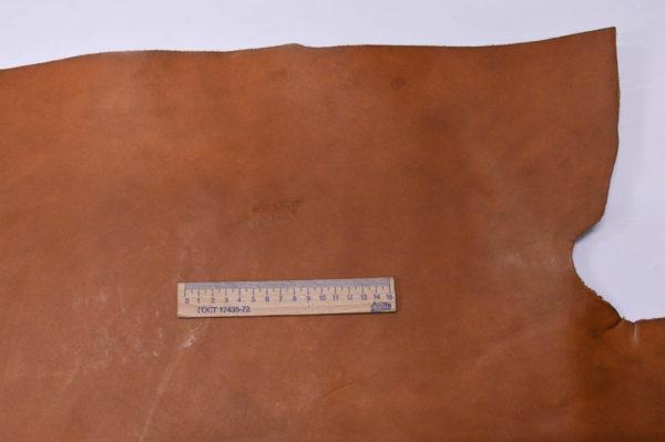 Кожа КРС (пола) растительного дубления, рыжая, 86 дм2.-501156