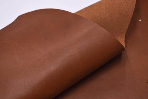 Кожа КРС растительного дубления, рыже-коричневая, 39 дм2.-501157