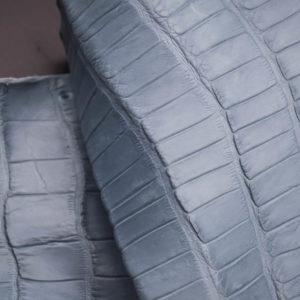 Кожа кроко, серо-голубая, 51х20 см.- kr1-40
