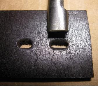 Пробойник овальный 25х2 мм.-1166