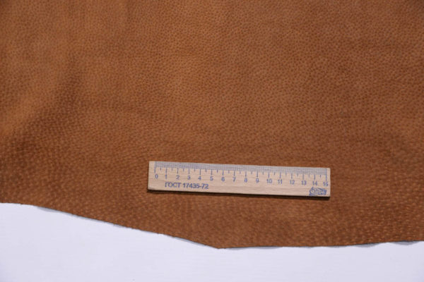 Кожподклад свиной (спилок), светло-коричневый (нугат), 65 дм2.-401037