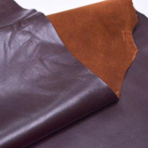 Кожа одёжная МРС, тёмно-коричневая, 5,75 фут. (53 дм2.)-301068