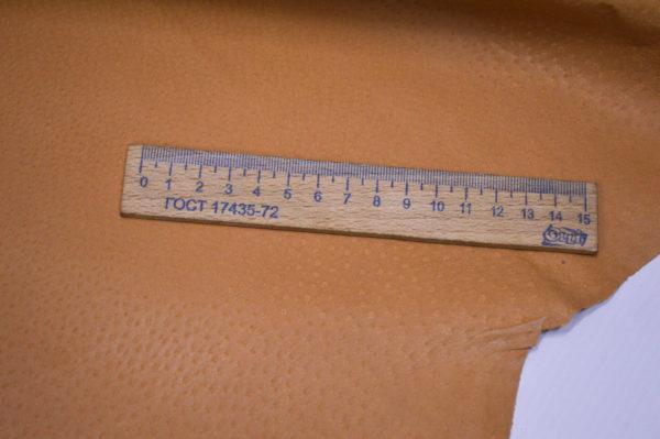 Кожподклад свиной (спилок) вощёный, песочный (кэмэл), 9,25 фут (86 дм2).-401032