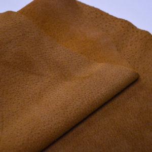 Кожподклад свиной (спилок), светло-коричневый (нугат), 41 дм2.-401037