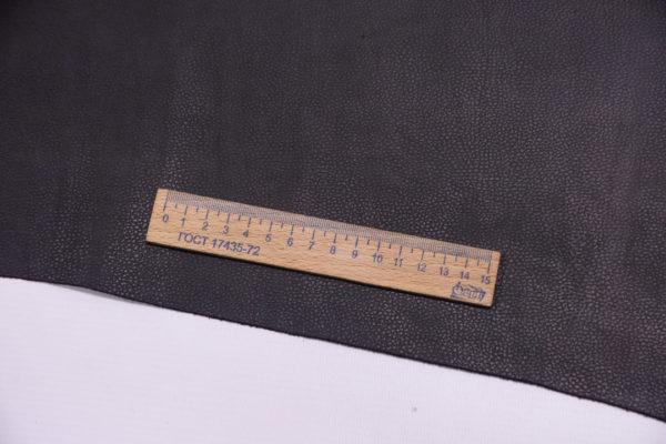 Кожа КРС с тиснением, чёрный шоколад, 116 дм2.-501205