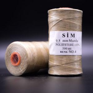 Нить вощенная 0,8 мм. Бежевая (SIM 4), 500 м.