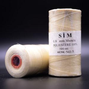 Нить вощенная 0,8 мм. Молочная (SIM 5), 500 м.