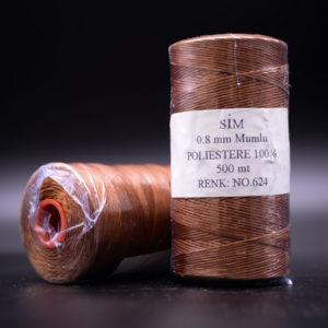 Нить вощенная 0,8 мм. Медная (SIM 624), 500  м.