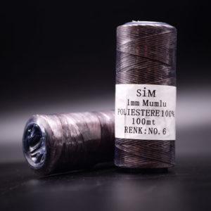 Нить вощенная. Тёмно-коричневая (SIM 6)