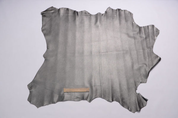 Кожа МРС, серо-зелёный металлик, 54 дм2, Russo di Casandrino S.p.A.-108088