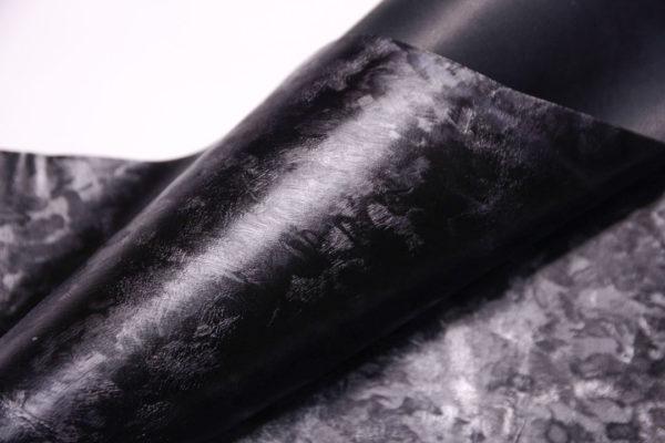 Кожа МРС, чёрная с серебром, 42 дм2.-108127