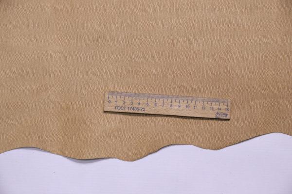 Кожа МРС (краст) с тиснением, бежевая, 56 дм2.-108152