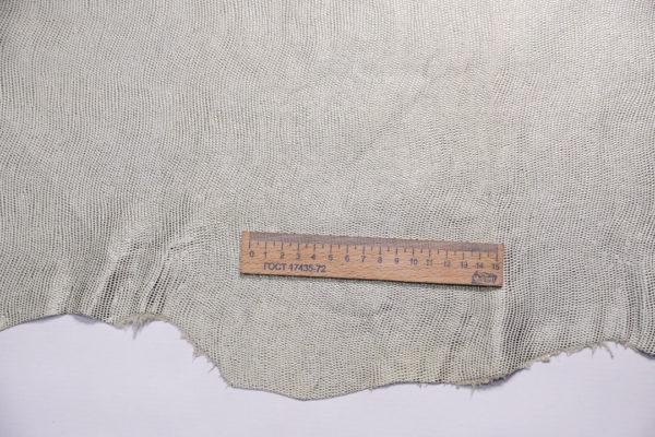 Кожа МРС с тиснением, серебристая с зеленоватым переливом, 49 дм2.-108154