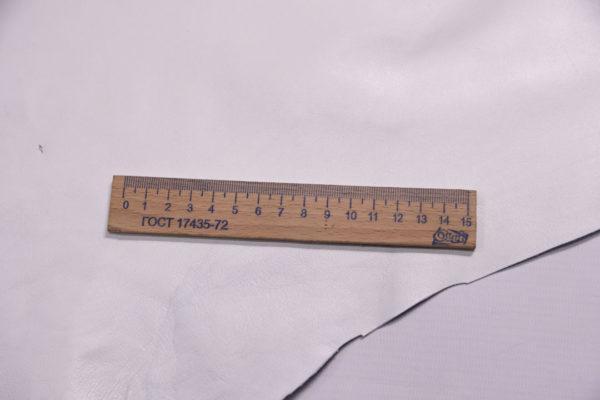 Кожа одёжная МРС, белая, 5,5 фут. (51 дм2.)-301074