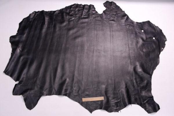 Кожа одёжная МРС, чёрная (зиг), 12 фут. (111 дм2.)-301075