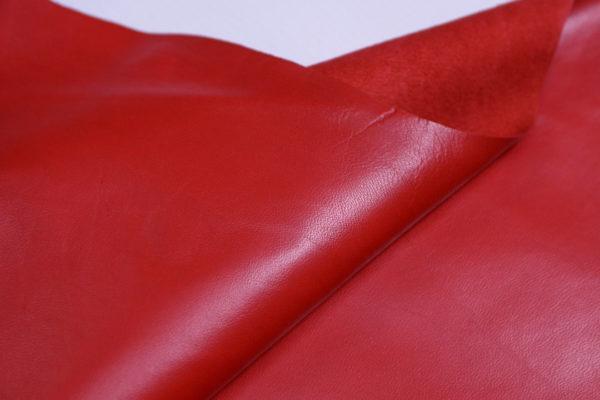 Кожа одёжная МРС, красный (алый)-662