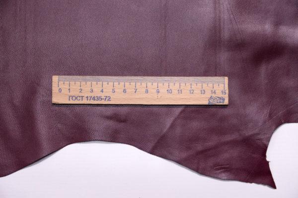 Кожа одёжная МРС, бордовая, 6,5 фут. (60 дм2.)-301083