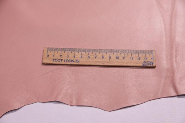 Кожа одёжная МРС, розовый, 4,5 фут. (42 дм2.)-301088
