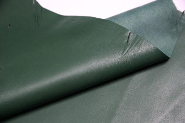 Кожа одёжная МРС, зелёная, 5,5 фут. (51 дм2.)-301093