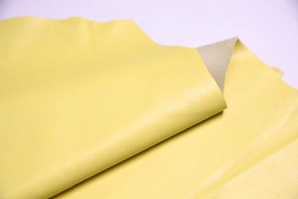 Кожа одёжная МРС, светло-жёлтая, 5,5 фут. (51 дм2.)-301094