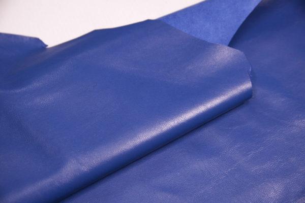 Кожа одёжная МРС, голубая, 7,75 фут. (72 дм2.)-301100