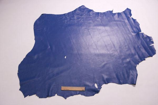 Кожа одёжная МРС, голубая, 7 фут. (65 дм2.)-301101