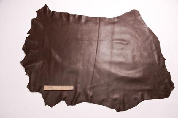 Кожа одёжная МРС, коричневый (фундук), 5 фут. (46 дм2.)-301102