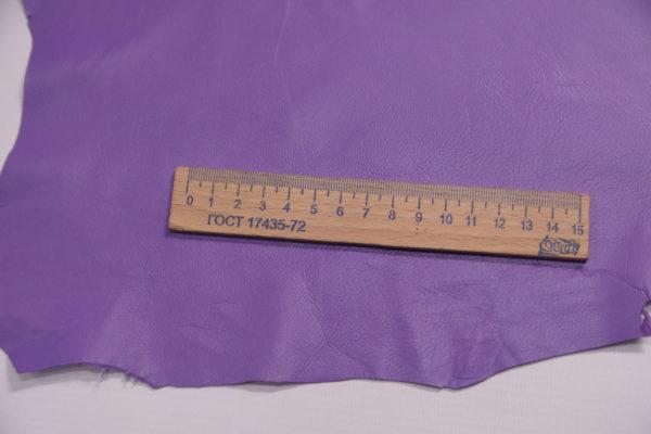 Кожа одёжная МРС, сиреневая, 7 фут. (65 дм2.)-301104