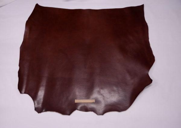 Кожа КРС растительного дубления с лёгким эффектом пулап (Pull up), бордово-коричневая, 111 дм2.-501206