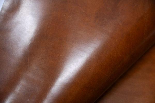 Кожа КРС растительного дубления с эффектом пулап (Pull up), коньячная, 133 дм2, Tempesti S.p.A-501210