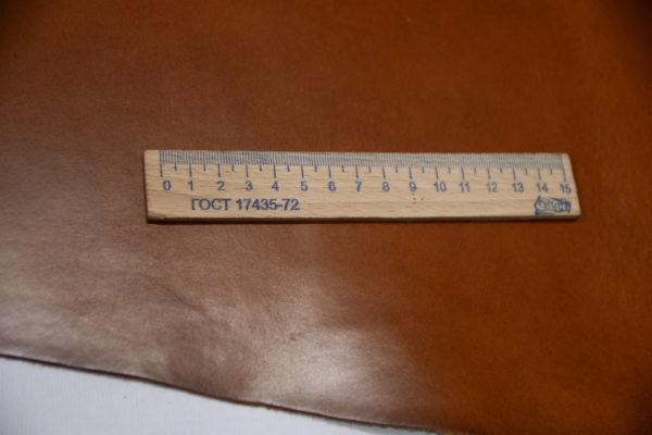 Кожа КРС растительного дубления с эффектом пулап (Pull up), коньячная, 144 дм2, Tempesti S.p.A-501211
