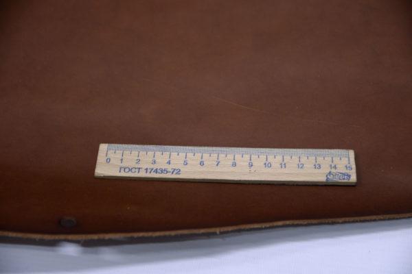 Кожа КРС растительного дубления с эффектом пулап (Pull up), коричневая, 89 дм2, Tempesti S.p.A-501213
