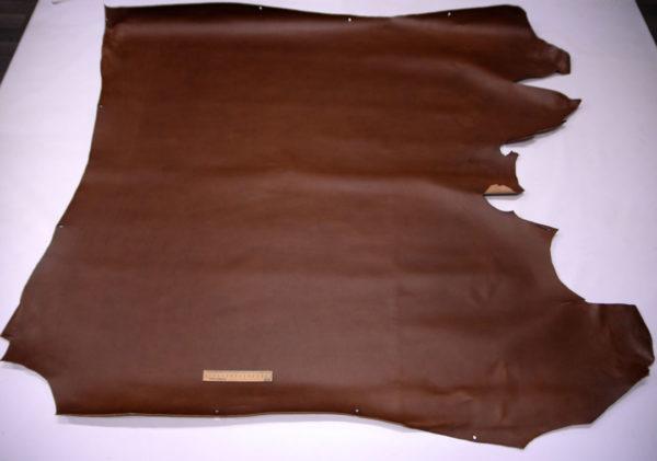 Кожа КРС растительного дубления с эффектом пулап (Pull up), коричневая, 194 дм2, Tempesti S.p.A-501214