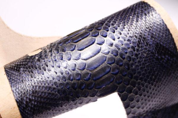 Кожа змеи, серо-голубая с перламутром 36х14-zm2-42