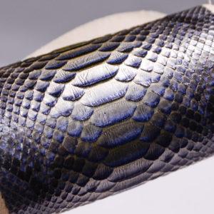 Набор кожи змеи, серо-голубой с перламутром-zm2-44