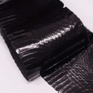 Кожа змеи, чёрная 117х12-zm2-68
