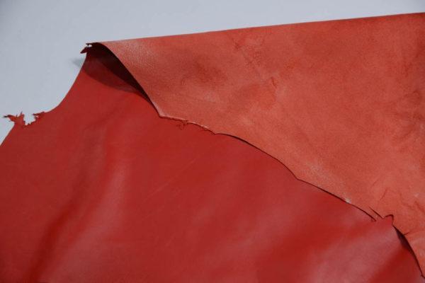 Кожа одёжная МРС, ярко-красная-Т116